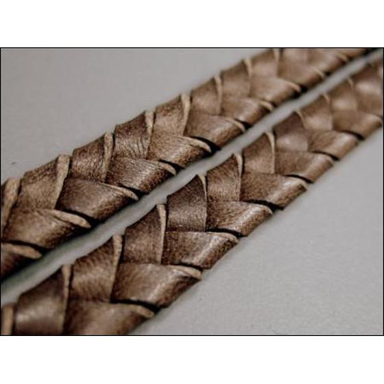 best website c3a63 63156 Lederband flach geflochten ca, 8,0mm x 3,4mm - hellbraun